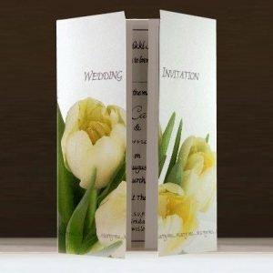 Cream Tulips Wedding Stationery