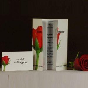 Single Red Rose 2 Wedding Stationery
