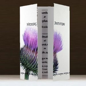 Scottish Thistle Wedding Stationery