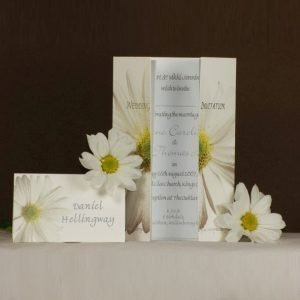 White Daisy Wedding Stationery