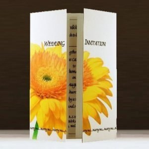 Yellow Gerbera Wedding Stationery