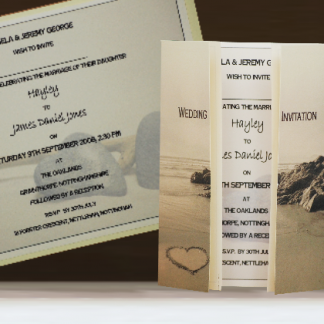 Heart in the Sand Wedding Stationery