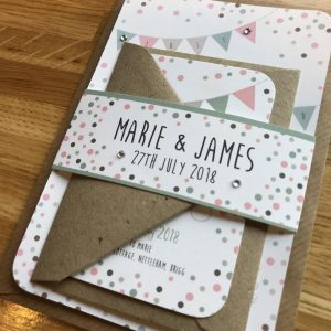 Dots & Bunting Wedding Stationery