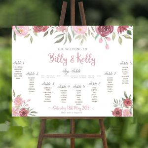 Dusky Pink Wedding Table Plan
