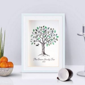 Family Fingerprint Tree- Personalised
