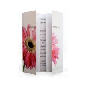 pink gerbera wedding invitation
