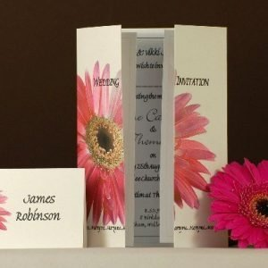 Pink Gerbera Wedding Stationery