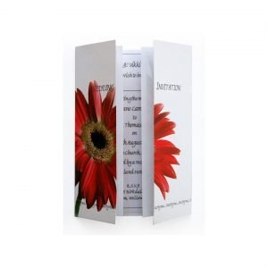 Red Gerbera Wedding Invitation - Gatefold