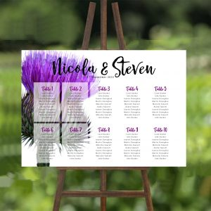 Scottish Thistle Wedding Table Plan