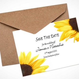 Sunflower Save The Date Card / Magnet