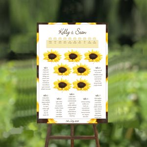 sunflower wedding table plan