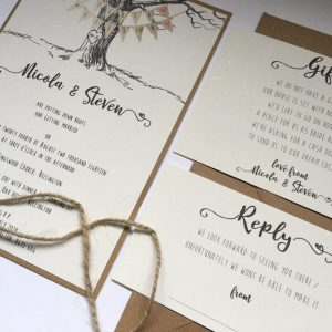 Engraved Tree Wedding Stationery