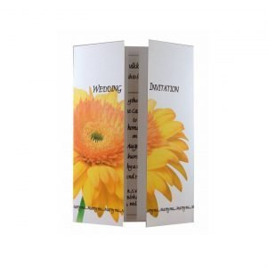 yellow gerbera wedding invitation