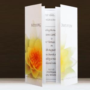 Gold Waterlily Wedding Stationery