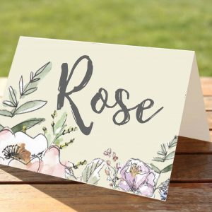 Lilac and PInk Flowers Wedding Stationery