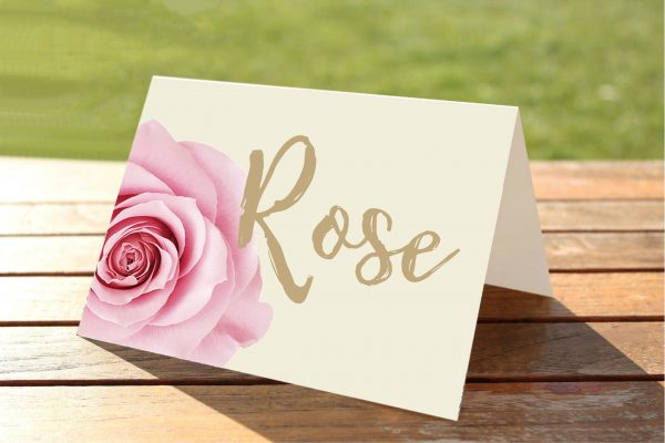 Pink Rose Wedding Table Numbers / Names