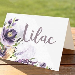 Purple Watercolour Flowers Wedding Stationery