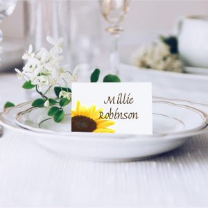 Sunflower Wedding Place Card