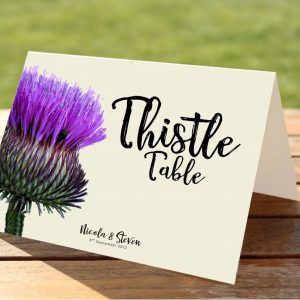 Scottish Thistle Wedding Table Numbers / Names