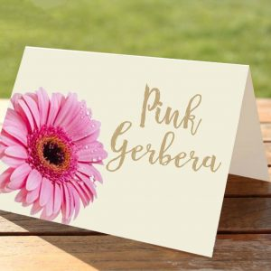 Pink Gerbera Wedding Table Numbers / Names