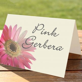 Pink Gerbera 2 Wedding Table Numbers / Names
